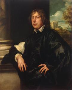 Portret van de Keulse bankier Everhard Jabach, op de achtergrond de Ypres Tower in Rye