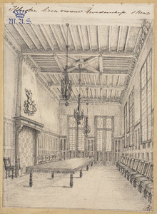 Interieur van het Zwanenbroedershuis in Den Bosch