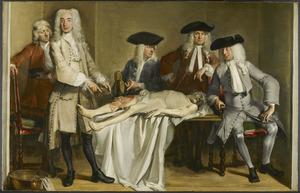 De anatomische les van Willem Roëll (1700-1775)
