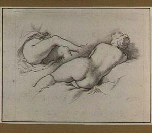 Studie van twee vrouwelijke naakten