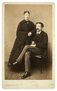 Portret van Sophia Susanna de Lavieter (1844-1928) en François Joseph Cuissinier (1840-1903)