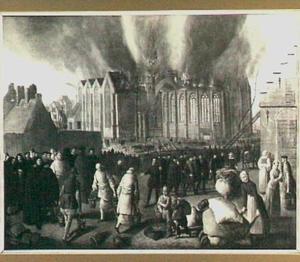 De brand van de Nieuwe of St. Nicolaaskerk te Dordrecht op 21 januari 1568 (nieuwe stijl)