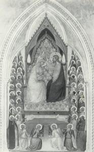 Kroning van Maria met heiligen en engelen