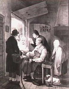 De schoenmaker ontvangt een brief
