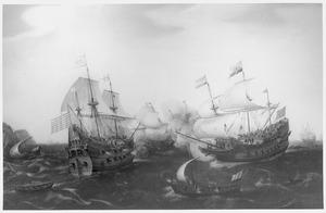 Gevecht tussen Amsterdamse en Engelse oorlogsschepen, 20 april 1605