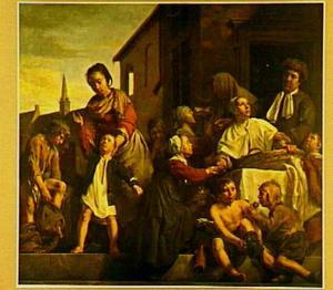 Het verzorgen van de kinderen van het Arme- Kinderhuis: drie Werken van Barmhartigheid
