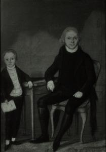 Dubbelportret van Otto Georg Bungenberg (1766-1834) en Hermanus Bungenberg (1795-1819)