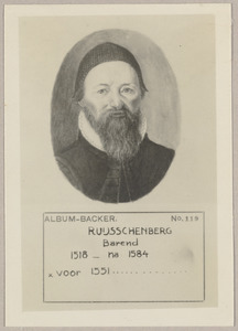 Portret van Bernard Ruysschenberg (....-....)