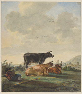 Rustende herder met vee