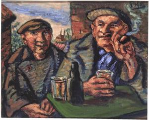 Zwei Bauern vor der Schenke (authentiek)