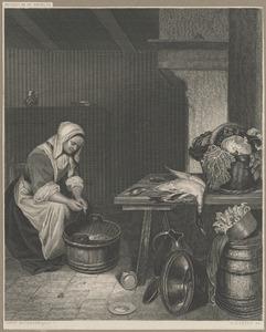 Vrouw in een keuken