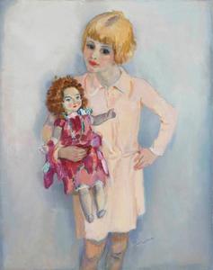 Meisjesportret met pop