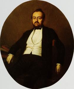 Portret van Louis Jacobus Anthonie Tollens (1820-1874)