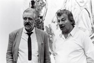 Portret van Ed Wingen en Karel Appel