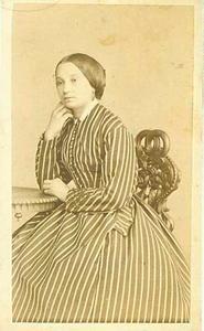 Portret van fotografe Emma Kirchner (1830-1909)