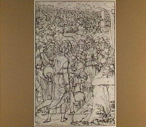 Samuel offert een zooglam aan de Here  (1 Samuel 7:9-12)