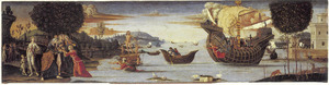 De geliefde van Enalus geofferd aan Poseidon en gered