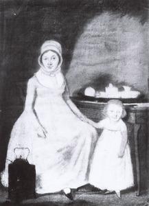 Portret van Aleida Floor (1765-1838) en waarschijnlijk Anna Catharinas Kramer (1800-....)