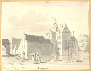 Slot Keppel te Keppel met de voorgebouwen