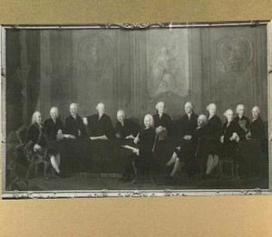 Portret van de leden van de Haagse magistraat in de jaren 1759-1761