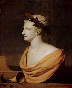 Trompe-l'oeil met een Adonis-buste