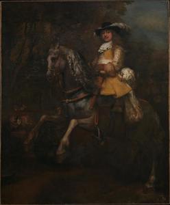 Portret van Frederick Rihel te paard