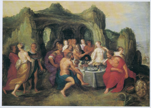 Het feestmaaltijd ter gelegenheid van het huwelijk van Neptunus en Amphritrite