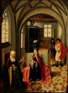 De heilige familie met Anna en Joachim