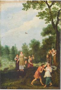 Amaryllis kroont Mirtillo (Guarini, Il Pastor Fido)
