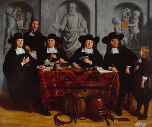 De overlieden van het kuipers- en wijnverlatersgilde, 1673