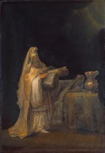 De profeet Zacharias in de tempel
