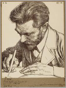 Portret van August Bebel
