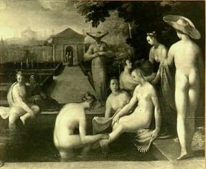 Het toilet van Batseba (2 Samuel 11:2)
