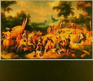 David verrast de feestende Amalekieten, die Siklag geplunderd hebben en verslaat ze (1 Samuel 30:1-20)