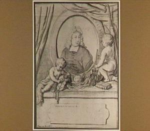 Portret van Ds Adriaan van Boscheiden (1685-1739)