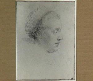 Kop van een vrouw, en profil naar rechts