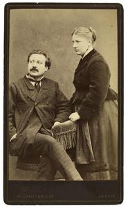 Portret van Sophia Susanna de Lavieter en Francois Joseph Cuissinier