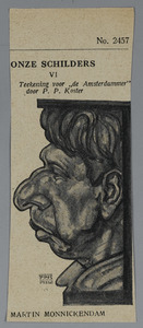 Portret van Martin Monnickendam
