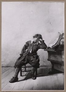 Zittende jongeman met pijp en boek