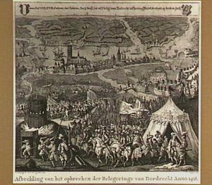 Het opbreken van de belegering van Dordrecht op 8 augustus 1418