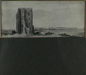 Gezicht op kasteel Bysertie, buiten Parijs