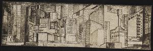 Mozaiek van de stad New York