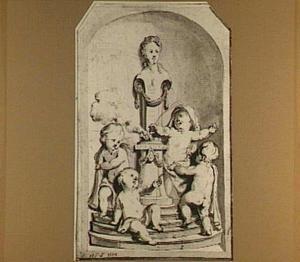 Aan Ceres offerende putti (allegorie op de herfst)