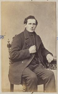 Portret van een man uit familie Jongedijk, mogelijk Roelof Jongedijk (1830-1890)