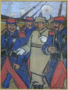 Generaal Von Seiffen gevangen genomen door Franse troepen