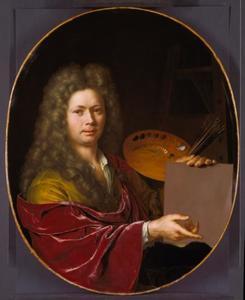 Zelfportret van Willem van Mieris (1662-1747)