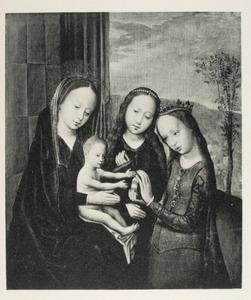 Maria met kind en twee heilige vrouwen