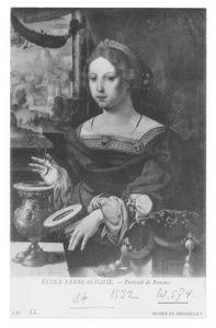 De H. Maria Magdalena met zalfpot en bloemen