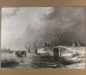 Winterlandschap met postwagen