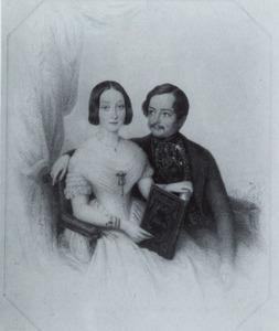 Portret van Moritz Carl von Nagell Gartrop (1812-1873) en Anna Wilhelmina Elisabeth van Nagell (1822-1900)